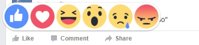 Facebook Reaction Emoticon