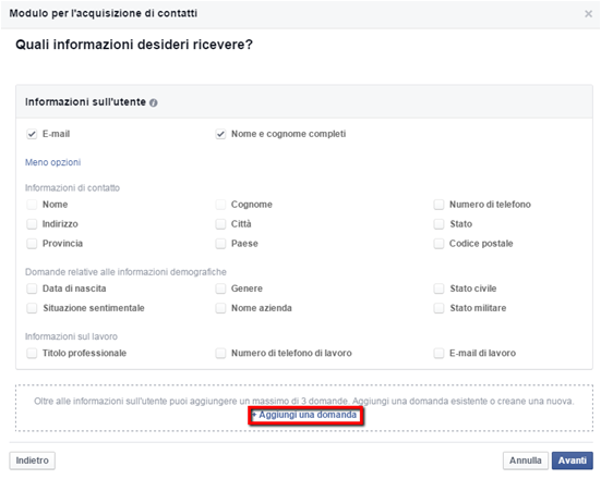 Guida Facebook Lead ADS 3
