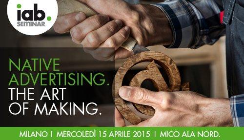 Risultati immagini per iab seminar native advertising