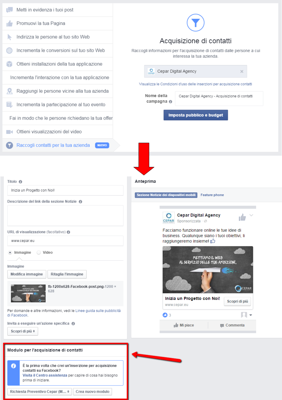 Guida Facebook Lead ADS 8