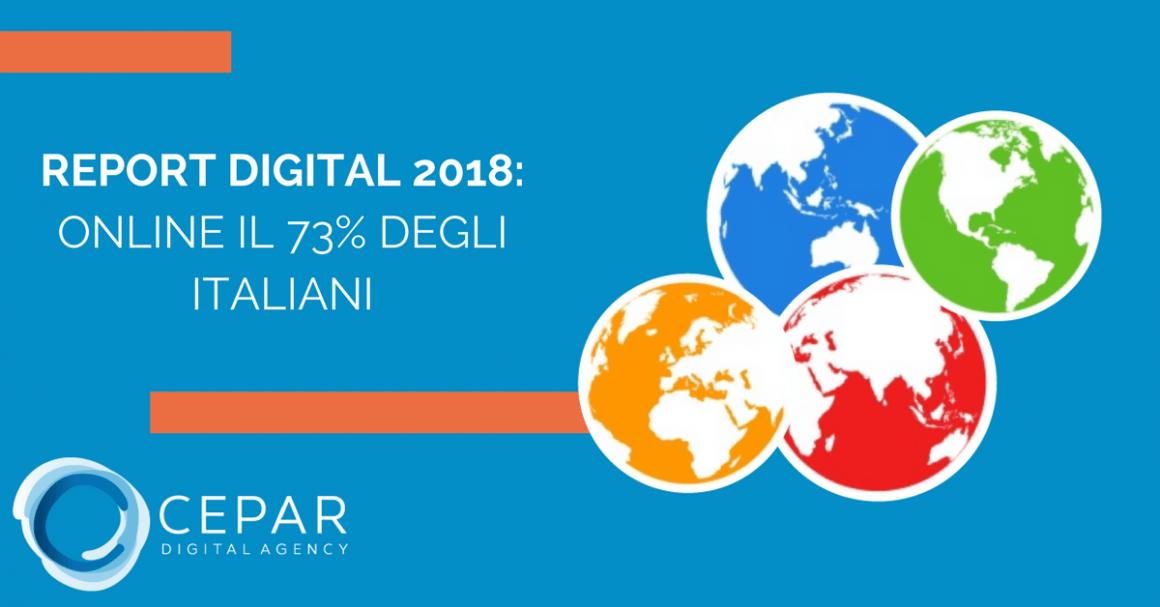 Report Digital 2018 italiani oinline Internet